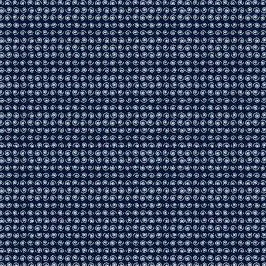 White Snails on Spoonflower Navy