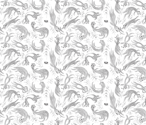 Otterly Playful sketch fabric by colour_angel_by_kv on Spoonflower - custom fabric