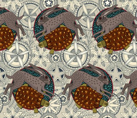 hare tortoise mandala fabric by scrummy on Spoonflower - custom fabric