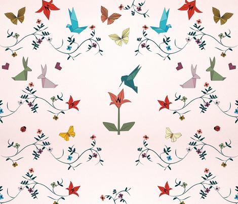 Silky origami garden fabric by hadarla on Spoonflower - custom fabric
