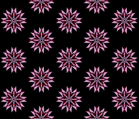 Spiky Stars on Black - Large Scale fabric by rhondadesigns on Spoonflower - custom fabric