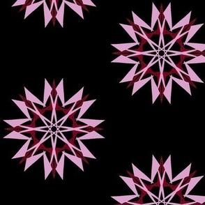 Spiky Stars on Black - Large Scale