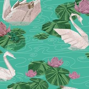 Origami Challenge Swans