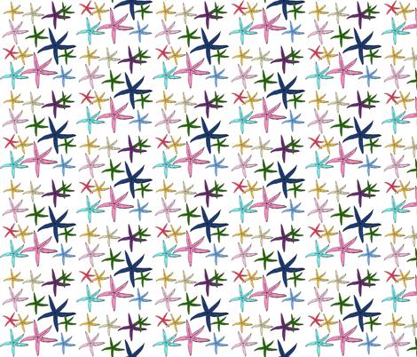 starfish tropics  - 368 SMALL fabric by drapestudio on Spoonflower - custom fabric
