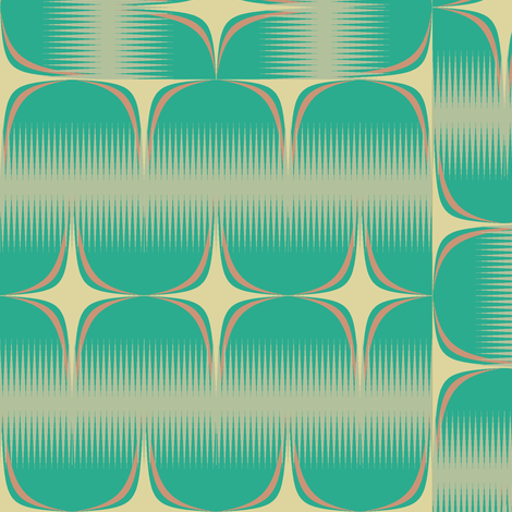 Powfect (Green) fabric by david_kent_collections on Spoonflower - custom fabric