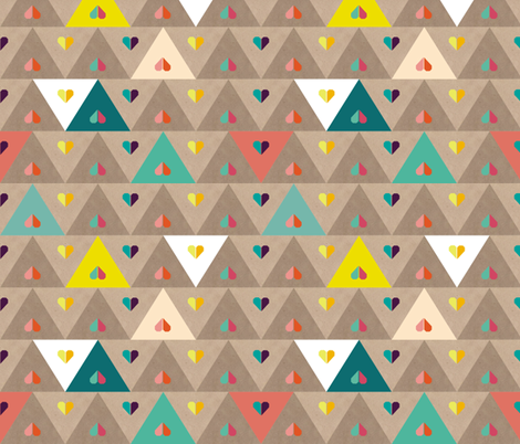 small origami heart fabric by toy_joy on Spoonflower - custom fabric