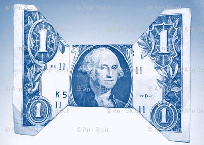 blue money origami