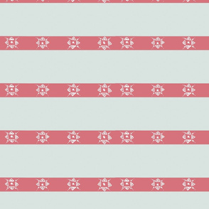 Gray and pink stripes stars