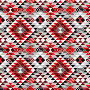Kilim in Black and Red