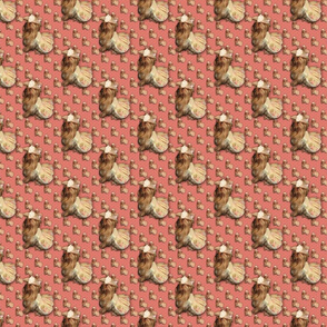 "Yorkie Buttercup 2""  - Matching Fabric-ed"