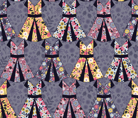 Origami Party Gowns fabric by robyriker on Spoonflower - custom fabric