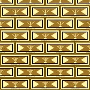 golden menorah khaki gold -  3x6