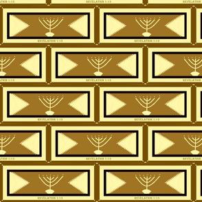 golden menorah khaki gold  4x8