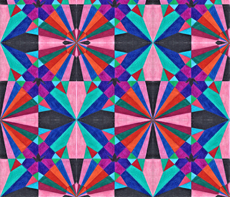 Deconstructed Origami Crane fabric by kate's_kwilt_studio on Spoonflower - custom fabric
