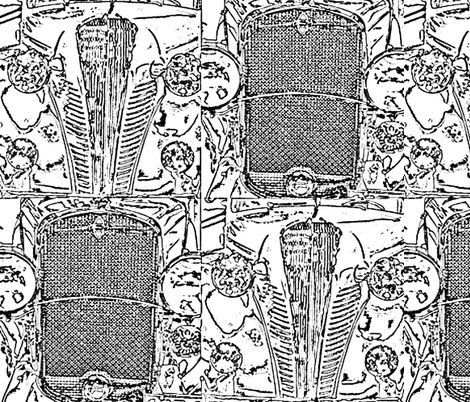 """grill sketch-18"""" repeat fabric by kae50 on Spoonflower - custom fabric"""