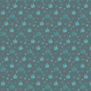Mint Kitty Shapes