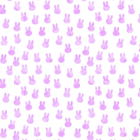 small bunnies in bright purple fabric by littlearrowdesign on Spoonflower - custom fabric