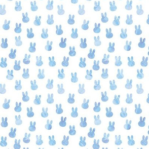 small bunnies in blue