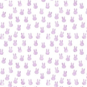 small bunnies in light purple