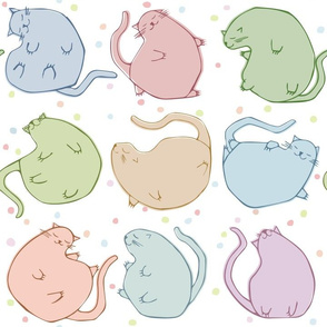 BLOBBY CATS just cats