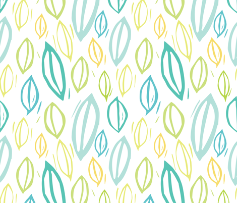 Spring Leaves fabric by mirabellestudio on Spoonflower - custom fabric