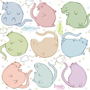 BLOBBY CATS cats