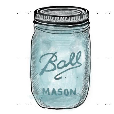 Mason Jar, Ball Mason Jar Blue, Vintage