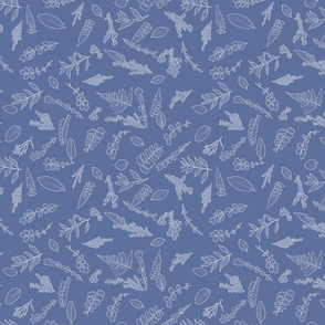 denim tiny leaves sm