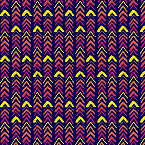 Brushy Chevrons