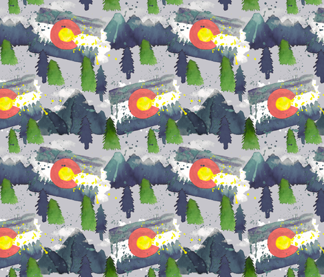 WaterColorado Grey  fabric by everhigh on Spoonflower - custom fabric