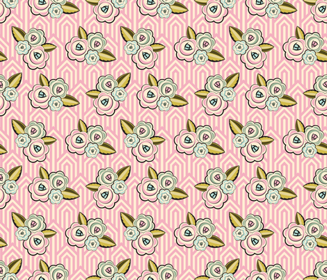 ArtDecoPinkBackGround fabric by leventetladiscorde on Spoonflower - custom fabric