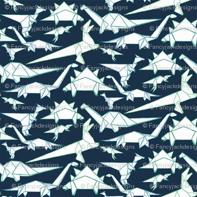 Origami Dino Blue