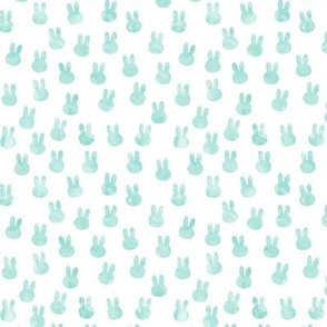 small bunnies in dark mint