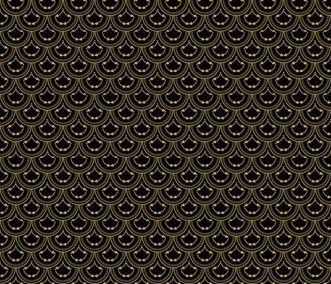 Mermaid Deco Scales fabric by krystalsavage on Spoonflower - custom fabric