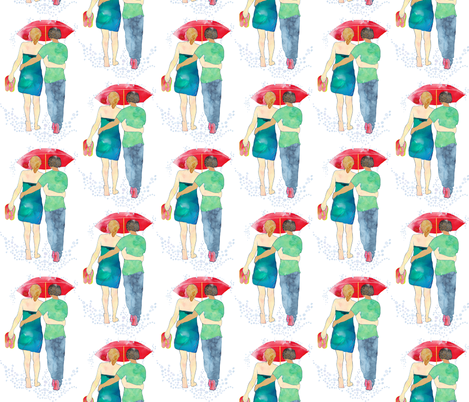 Arm in Arm fabric by jvclawrence on Spoonflower - custom fabric