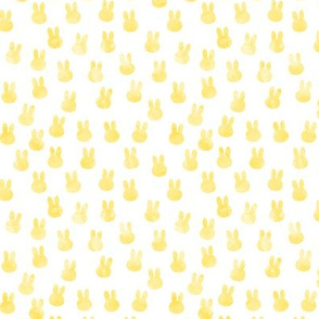 little bunnies in yellow