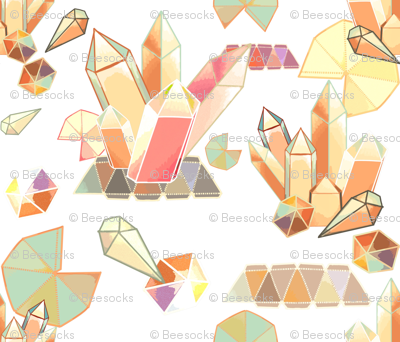 paper prisms origami crystals and gems