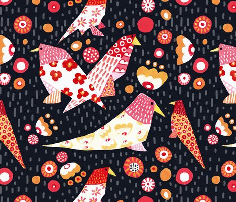 Fly little Birds_rv fabric by bridgettstahlman on Spoonflower - custom fabric