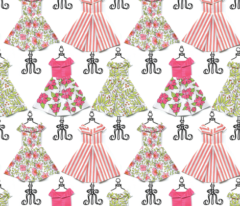 Origami Dress Shoppe fabric by lacy_and_jojo on Spoonflower - custom fabric