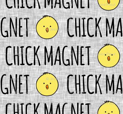 Chick magnet - light grey