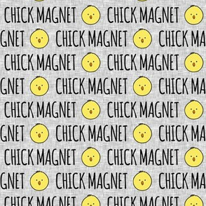 Chick magnet - light grey