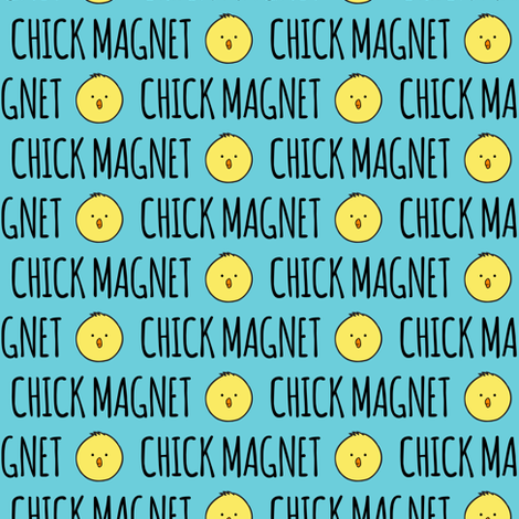 Chick Magnet - Easter Fabric fabric by littlearrowdesign on Spoonflower - custom fabric