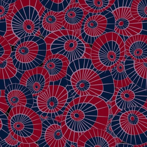 Washi Umbrellas - Navy, Burgundy, Lavender