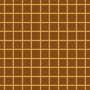 Brown and Yellow Plaid