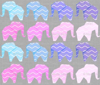 Gift paper elephants