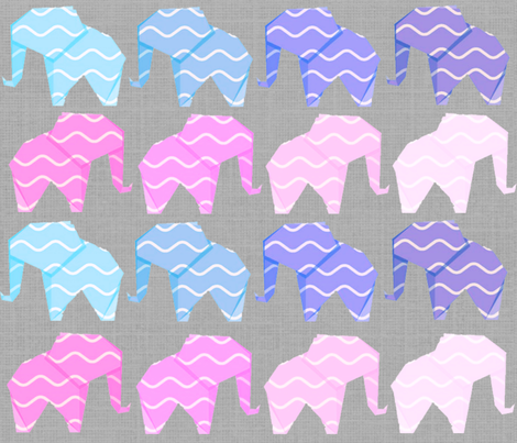 Gift paper elephants fabric by indigo_swan on Spoonflower - custom fabric