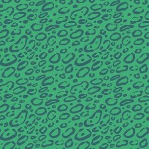 Leopard Print -Teal