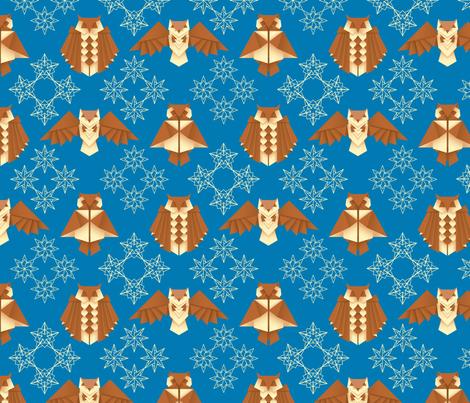 Origami Owls & Stars fabric by barbaraball on Spoonflower - custom fabric