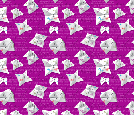 Let Me Tell Your Fortungami fabric by jewelraider on Spoonflower - custom fabric