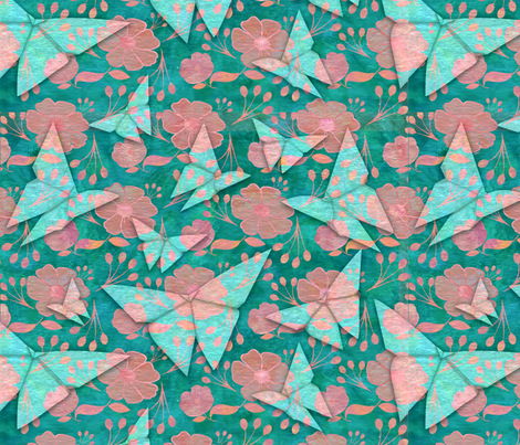 origami butterflys fabric by cathy_ann on Spoonflower - custom fabric